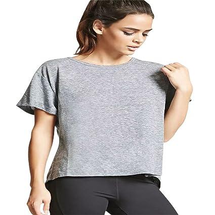7776f88ba Mujeres Verano Playa Blusa Camisa Manga Corta para Mujer Ocasional de la  Gasa del Chaleco de
