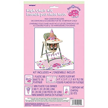 Amazon Ladybug 1st Birthday High Chair Decorating Kit 4pc