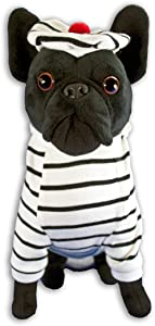 FGA MARKETPLACE French Bulldog Stuffed Animal, Realistic Looking Supersoft Plush Toy , Amazing Collection, A Huggable Keepsake for All Ages (French Navy)