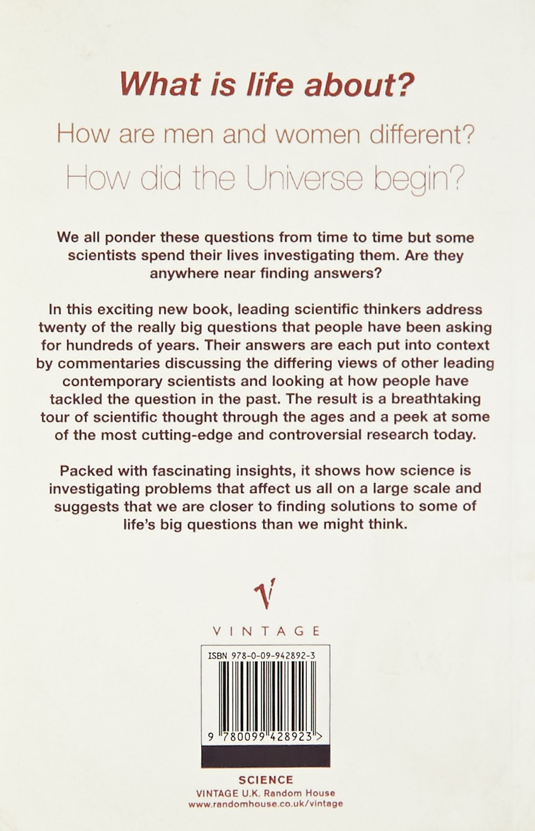 The Big Questions In Science: Harriet Swain: 9780099428923: Amazon