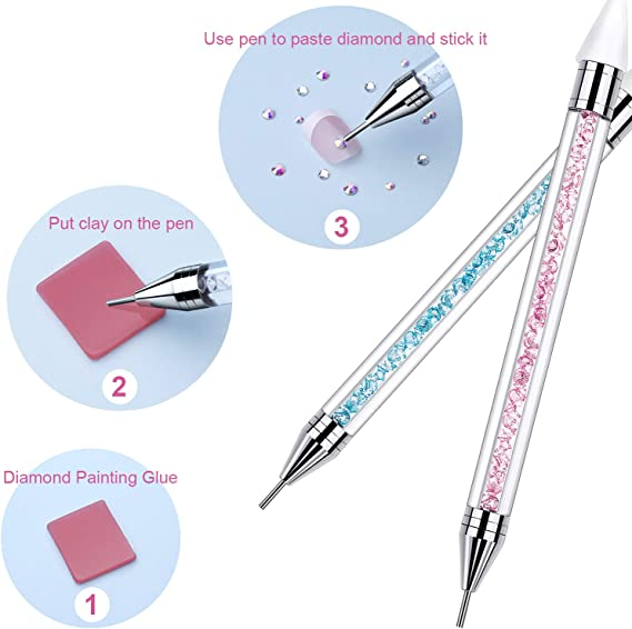Clay Diamond Painting Tool Cross Stitch Kits Point Drill Pen Embroidery Kit