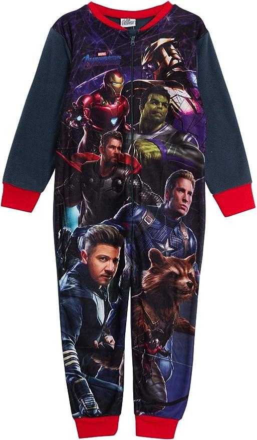 Marvel Vengadores - Pijama de forro polar todo en uno para niños