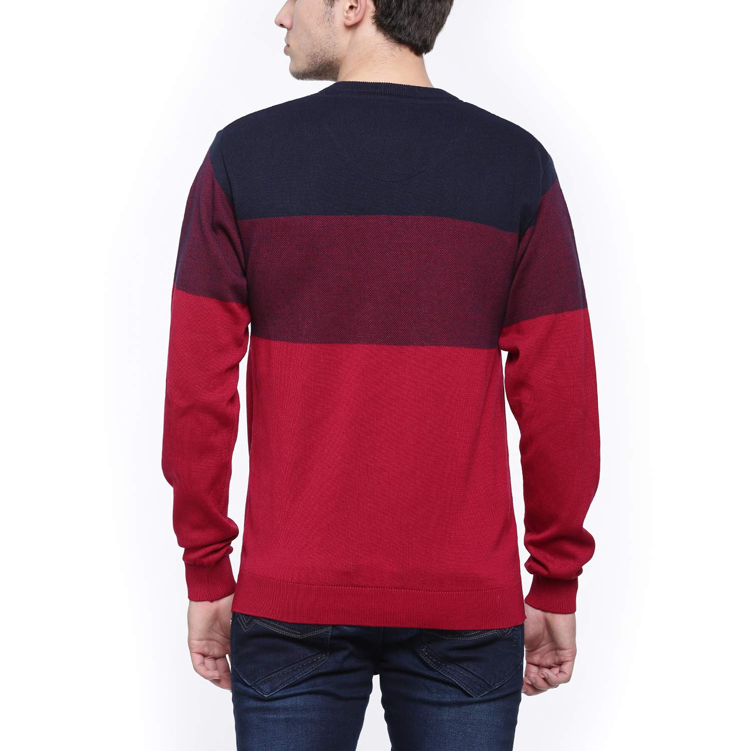t base Red & Black Stripe Sweater Sweater for Mens: Amazon