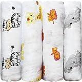 Premium CuddleBug Muslin Baby Swaddle Blankets - 4
