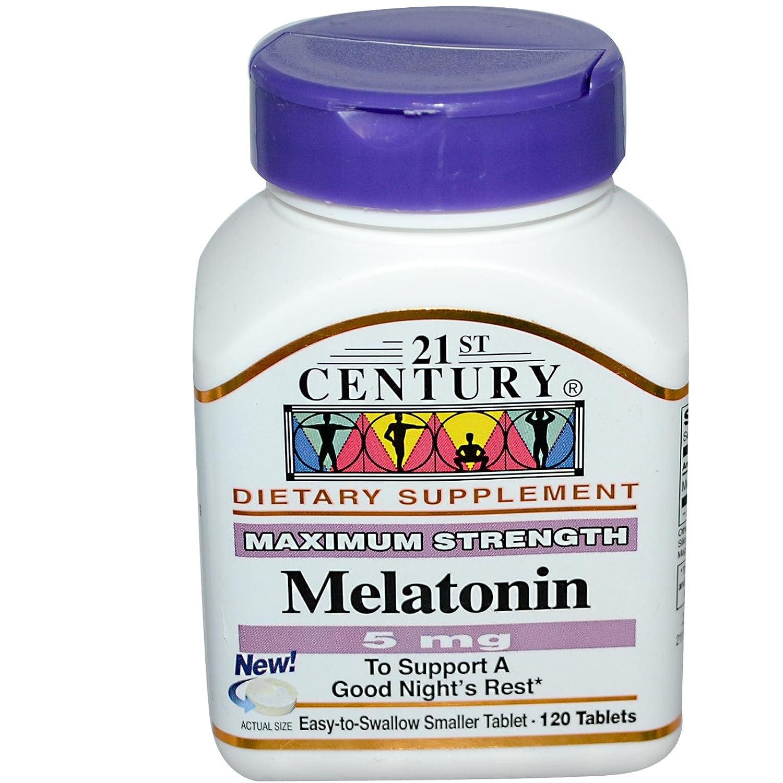 21st Century Health Care, Melatonin, 5 mg, 120 Tablets
