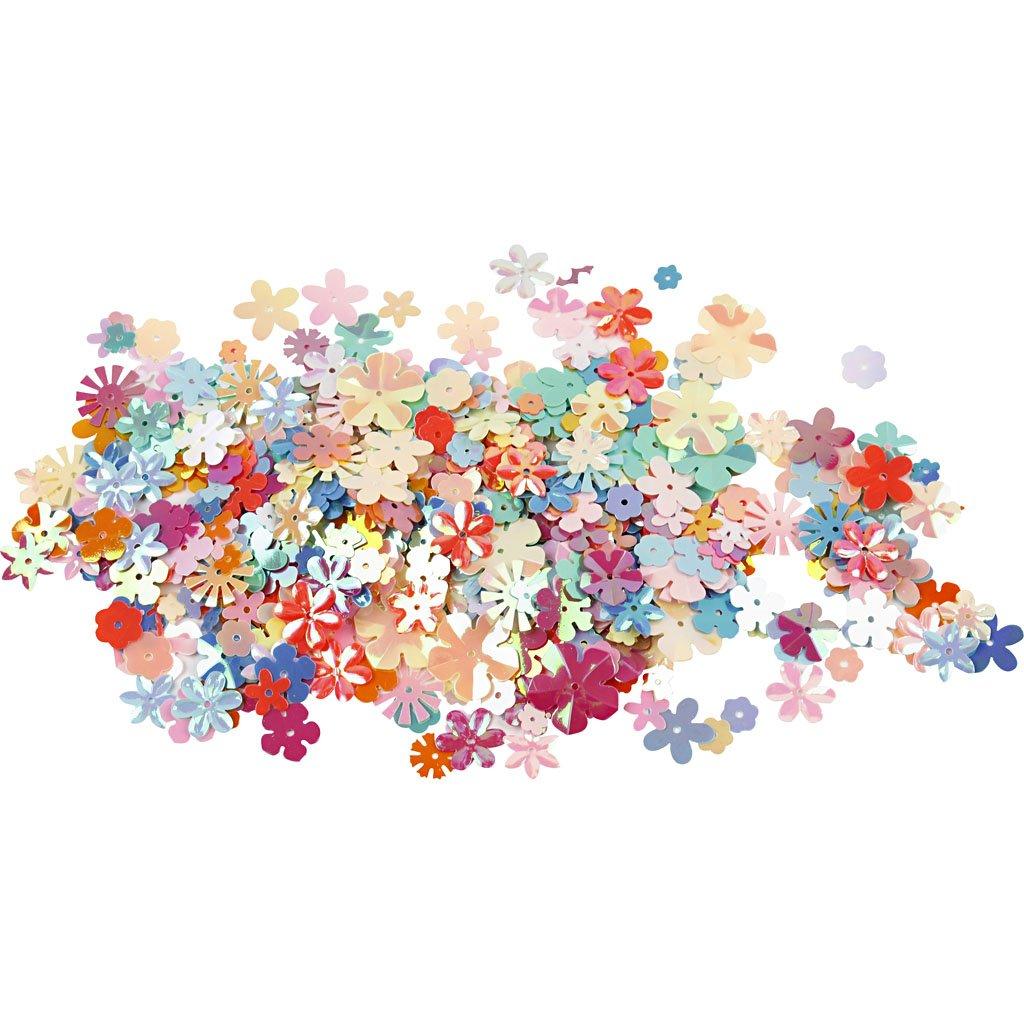 Lustrini a fiore, diam: 5-20 mm, 10g Creativ Company