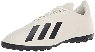 quality design 17dbf ab6e2 adidas Men s X Tango 18.4 Turf Soccer Shoe Off White Black Gold Metallic 7.5