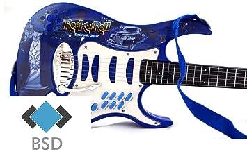 Rock guitarra con cuerdas de acero, trípode ajustable y micrófono ...