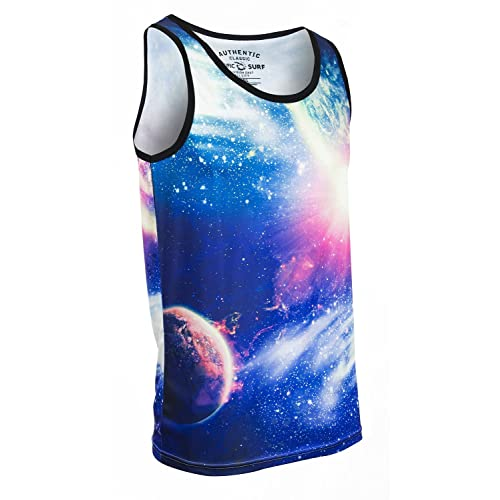 Pacific Surf Mens All-Over Print Tank Slim Fit Muscle Shirt