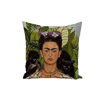 Fabulous Funda de Cojín Frida Pintura del Artista Original ...