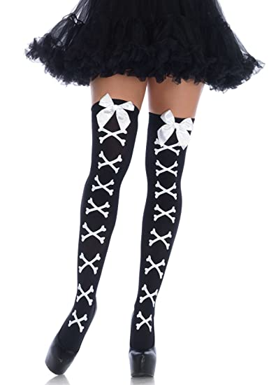 959de581624 Amazon.com  Leg Avenue Womens Crossbone Tights  Clothing