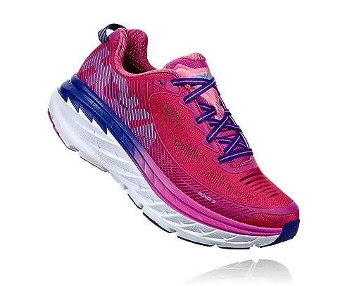 Hoka One Zapatillas de Running de Material Sintético para Mujer Rosa Hot Pink Fuchsia: Amazon.es: Zapatos y complementos