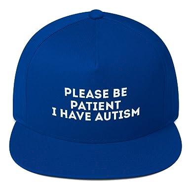 Amazon.com: print7trend Please be Patient i Have Autism hat Flat Bill Cap: Clothing