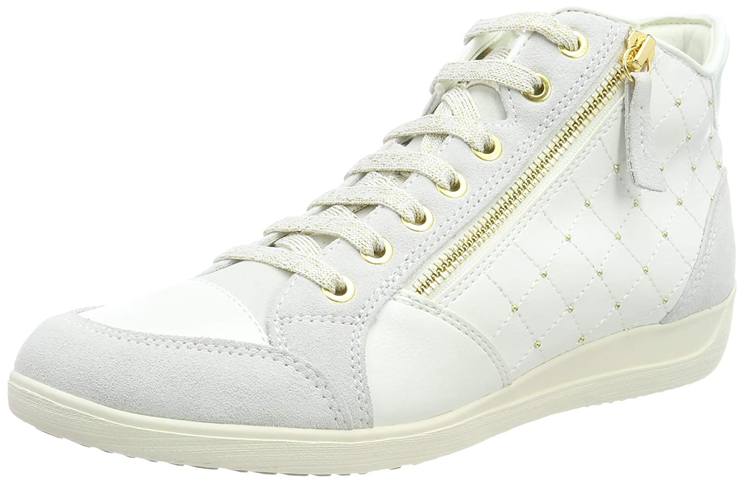 best deals on first rate to buy Amazon.com | Geox Women's D Myria C Hi-Top Trainers, (Off ...