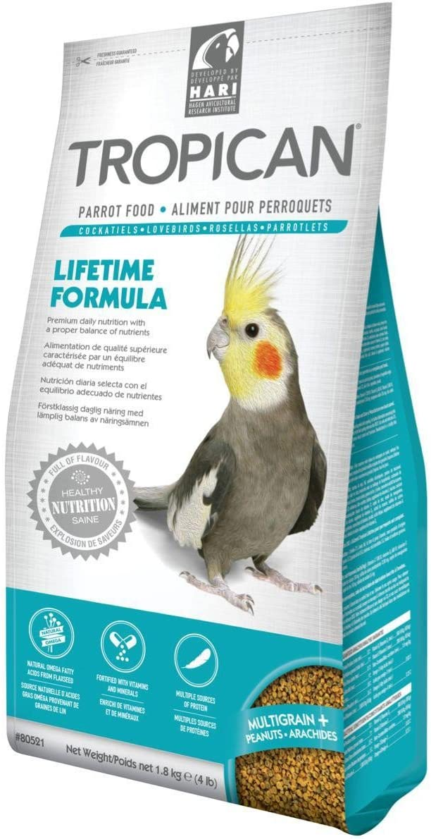 Hari Tropican Lifetime Formula Granules Parrot Food 2mm, 4lb
