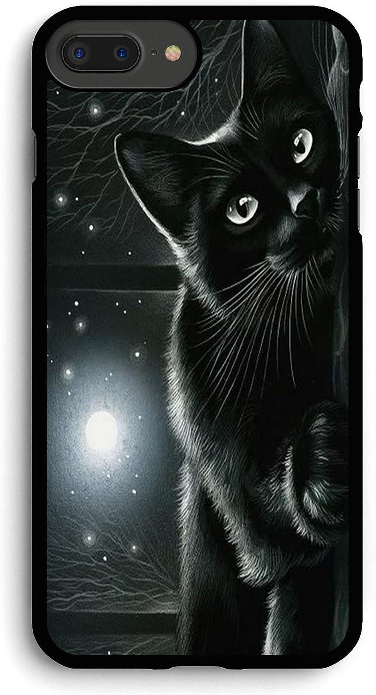 Dark Night Black Cat iPhone 7PLUS /8 Plus Case,PC Hard Case for iPhone 7PLUS /8 Plus