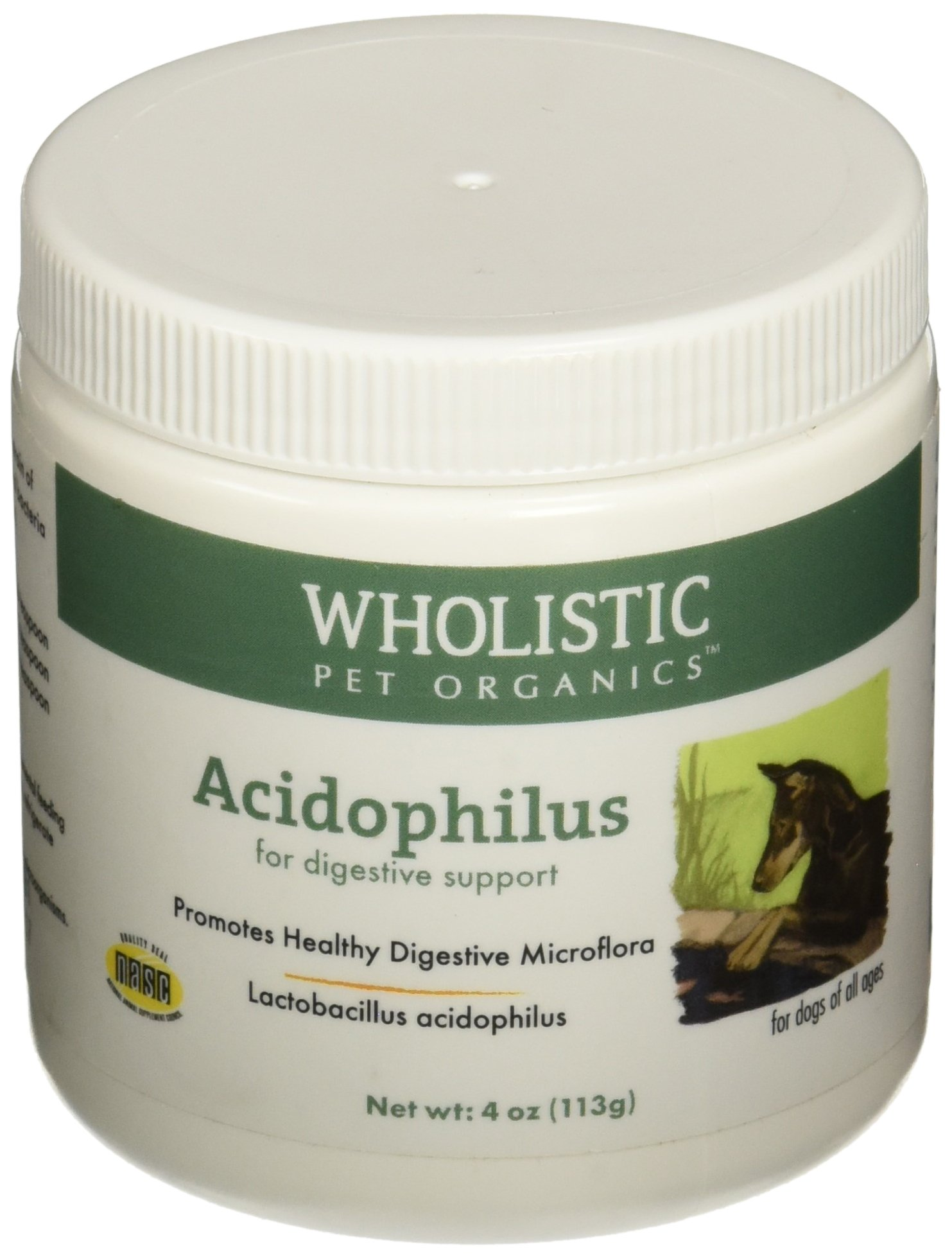 Wholistic Pet Acidophilus 4oz Natural and Organic Probiotic Supplement