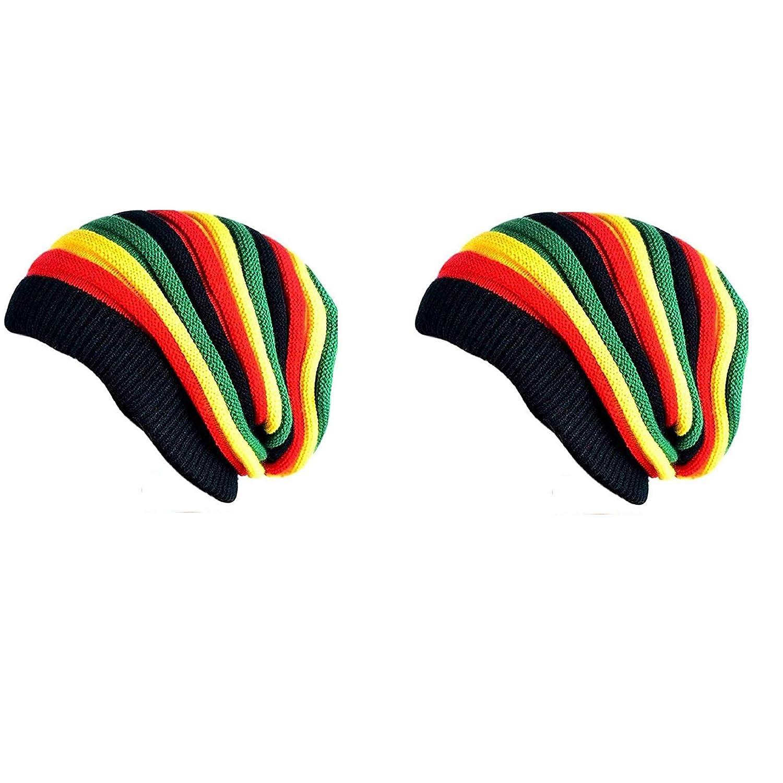 c763af907cf Ramanta Unisex Combo Beanie Woolen Winter Bob Marley Cap (Multi-Colored