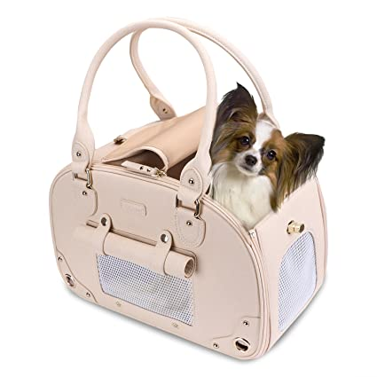 41e85361f2 PetsHome Dog Carrier Purse, Pet Carrier, Cat Carrier, Foldable Waterproof  Premium Leather Pet