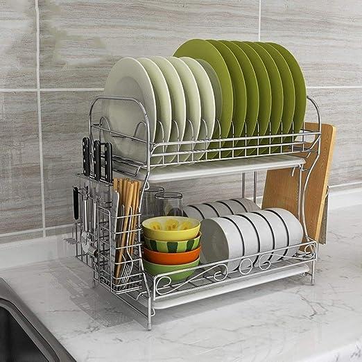 Estantes de cocina Parrilla de desagüe del estante de plato ...