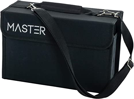 Master Marker 80 Slot  Heavy-Duty Nylon Marker Storage Case with Shoulder Strap