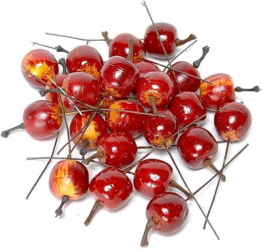 d.-rot//gelb 24 x Deko Äpfel mini 2cm Früchte !!! künstlich