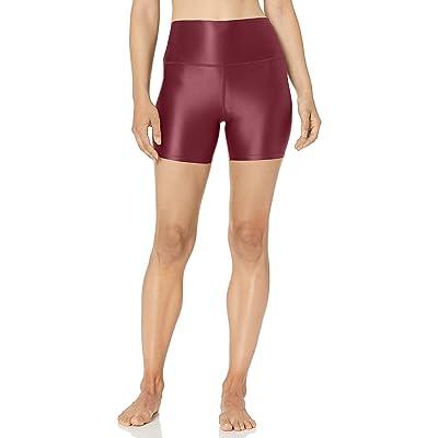 "Brand - Core 10 Women's Icon Series Liquid Shine High Waist Yoga Short – 5"": Clothing"