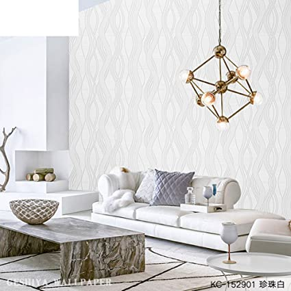 CDFGDJGGDGD Living Room Wallpaper,Modern Minimalist Stylish Atmosphere  Striped Pvc Wallpaper Fine Pressure Home Improvement