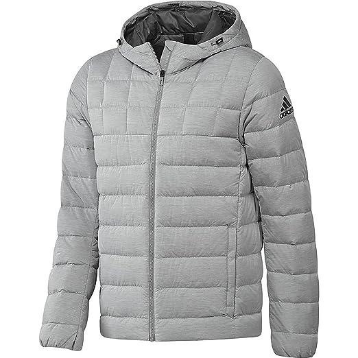 adidas outdoor Men s Nuvic Heather Jacket Medium Grey Heather Grey  Five Black Small af33996b97