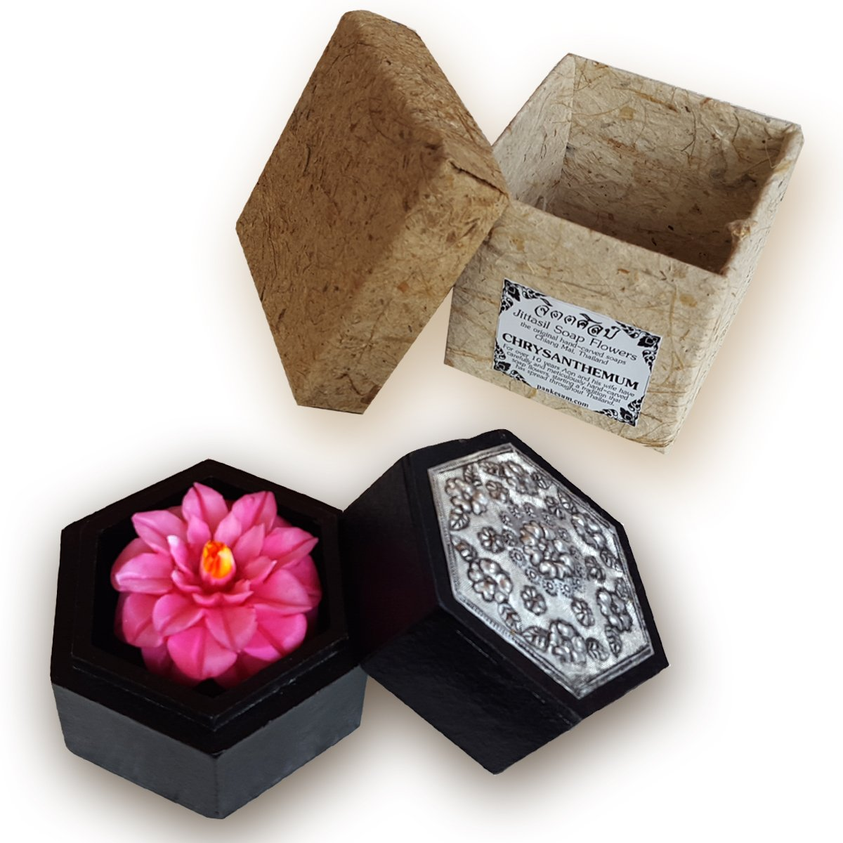 Amazon Jittasil Thai Hand Carved Soap Flower Gift Set 4 Inch