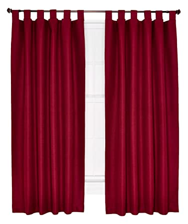 Curtains Ideas curtains double width : Amazon.com: Ellis Curtain Crosby Thermal Insulated 160 by 84-Inch ...