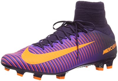 NIKE Mens Mercurial Veloce III DF FG Soccer Cleats Purple 10.5 Medium