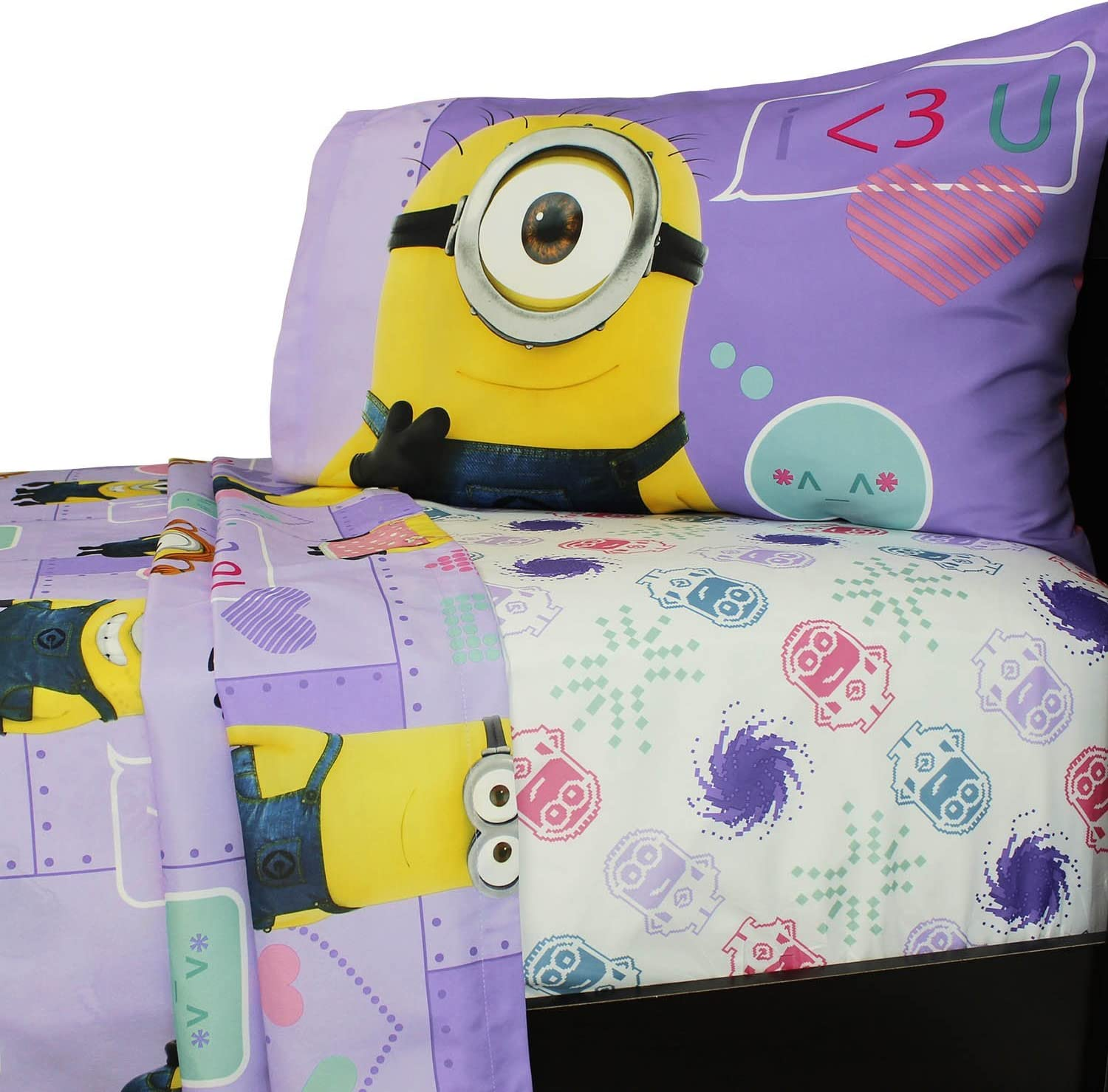 Universal's Minion Girls Way 2 Cute Microfiber Twin Sheet Set