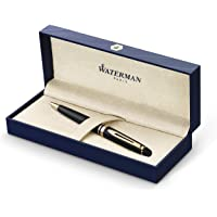 Waterman Expert Black Lacquer, Gold Trim RB