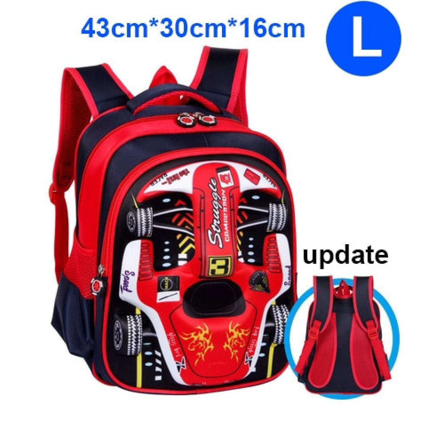 Amazon.com: Comfortable Breathable Backpack,3D Racing Car ...