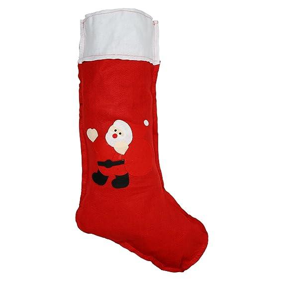 Christmas Shop - Calcetines navideños de fieltro Diseño Papa Noel Tamaño Gigante (Talla única (
