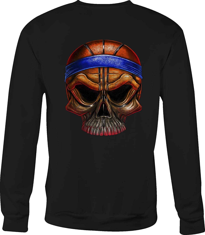 Basketball Crewneck Sweatshirt Skull Head for Men or Women