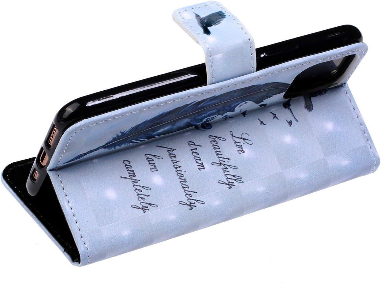 Herbests Kompatibel mit iPhone 11 Pro Handyh/ülle Handytasche Leder H/ülle Bunt Glitzer Bling Gl/änzendes Leder Schutzh/ülle Flipcase Brieftasche H/ülle Wallet Tasche,Feder Vogel
