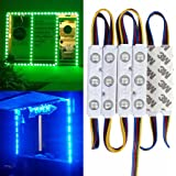 20FT Waterproof Colorful 5050 3 LED Light Module 12V RGB 120 LEDs With Remote Controller Power Plug for Outdoor Led StoreFront Signage Lighting