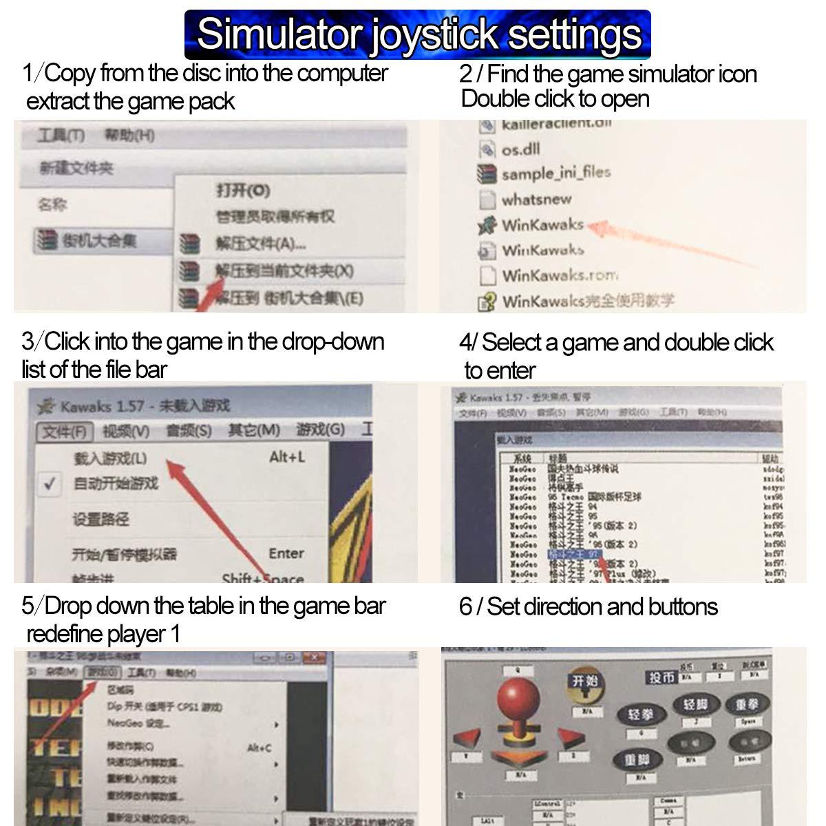 Amazon com: Farway Arcade Game Controller USB Joystick Kit