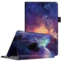 Fintie Hülle für Amazon Fire 7 Tablet (7. Generation, 2017 Modell) - 360 Grad rotierend Stand Schutzhülle Cover Case mit Standfunktion und Auto Sleep/Wake Funktion, Die Galaxie