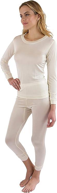 Metzuyan Ladies Womens Thermal Long Jane John Pants Warm Work Winter Underlayer Leggings Size S-XL