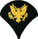 Specialist E-4 Army Chevrons - Gold on Green