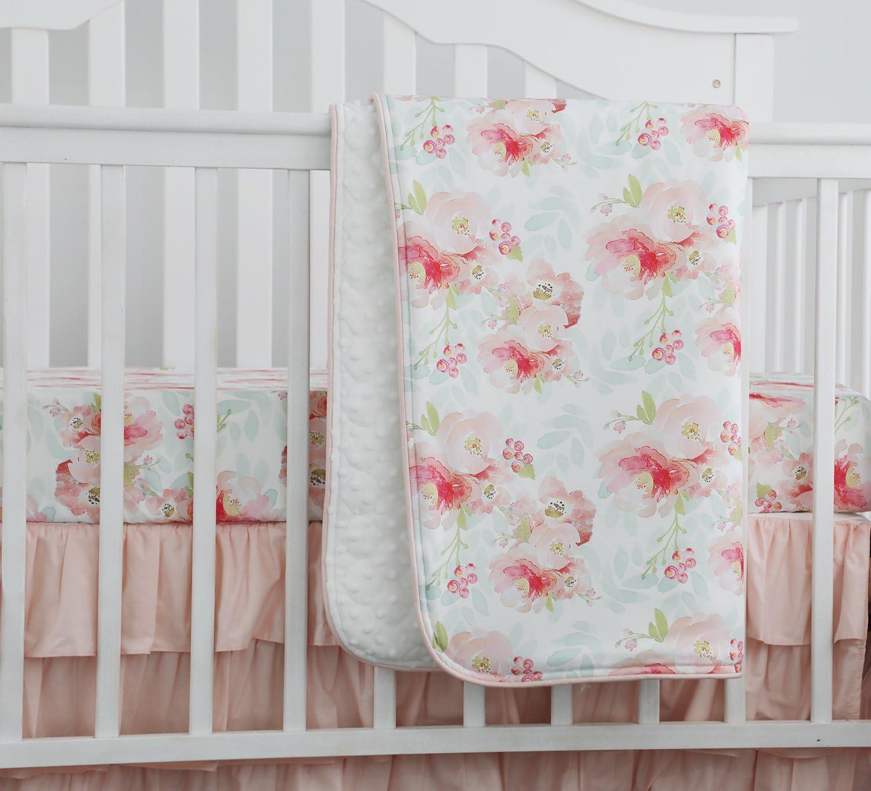 Change Pad Cover Crib Sheet Boho Crib Bedding Pink Yellow Lime Floral Baby Girl Bedding Flamingos Boho Blue