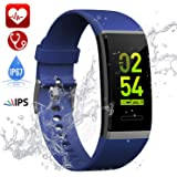 Fitness Tracker, Hamney Waterproof Heart Rate Monitor Colour Screen Fitness Watch Activity Tracker Pedometer with Sleep Monitor Step Calorie Counter Weather GPS Smart Watch Bracelet for Kids Men Women