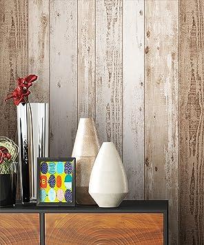 NEWROOM Papier peint bois marron poutre en bois bois maison de ...