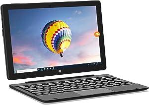 HAOQIN HaoBook106 10.1 inch 2-in-1 Laptop Computer Touchscreen with Detachable Keyboard Intel Atom 2GB RAM 32GB ROM HD IPS Display Windows 10 Black