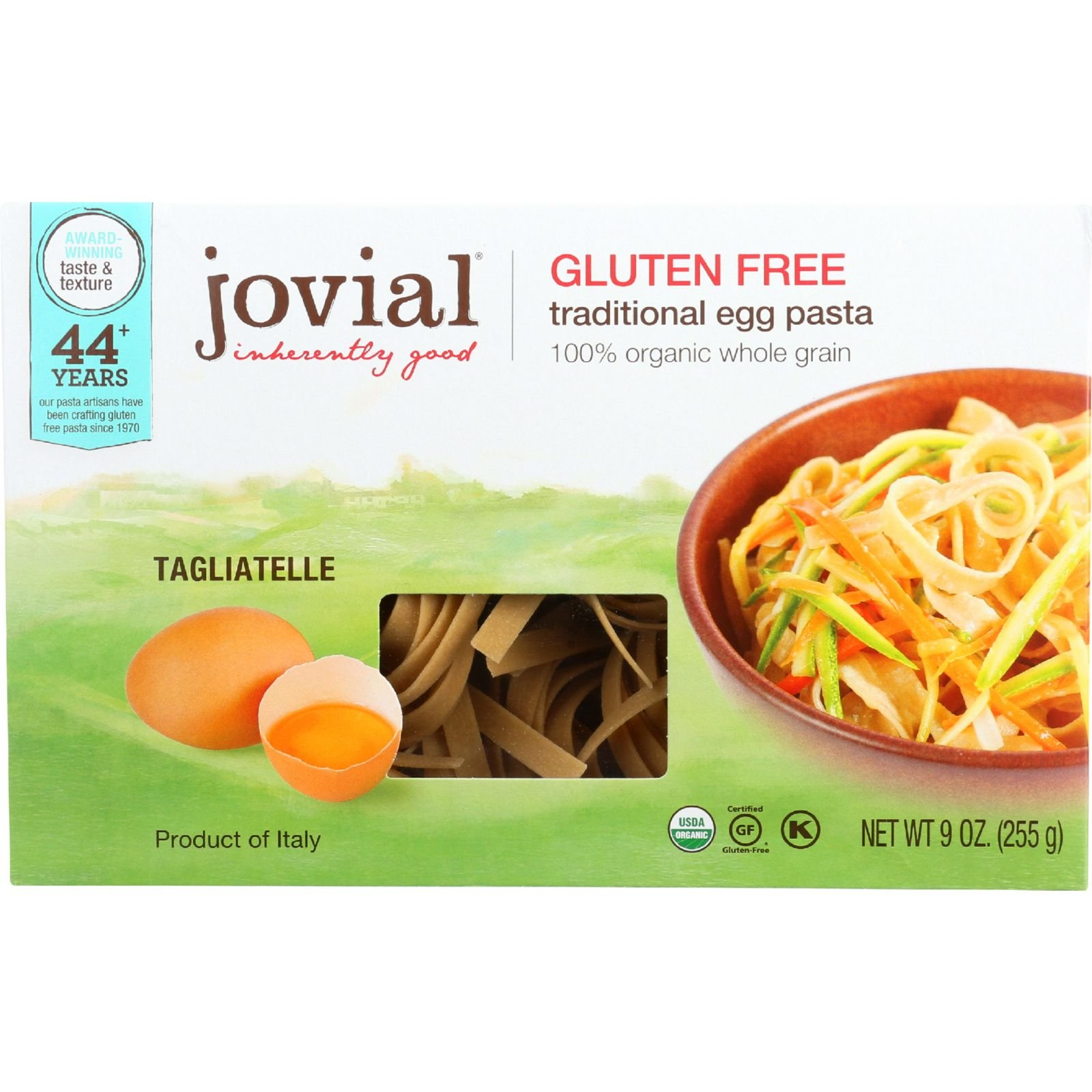 Jovial Traditional Egg Tagliatelle Pasta - Brown Rice - - 9 oz - Case of 12 - 100% Organic - Gluten Free - Wheat Free by Jovial (Image #1)