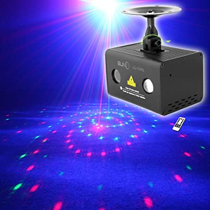 suny mini party laser lights sound music activated laser light show rg 12 patterns projector rgb