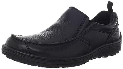 Hush Puppies Black Mens Leather Slip On Belfast Mt Loafers